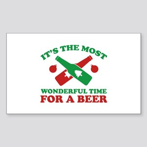 It's The Most Wonderful Time For A Beer Sticker (R