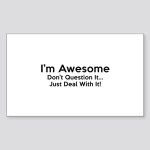 I'm Awesome Sticker (Rectangle)
