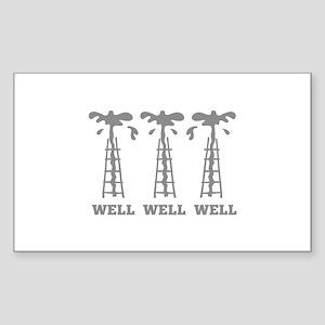 Well Well Well Sticker (Rectangle)