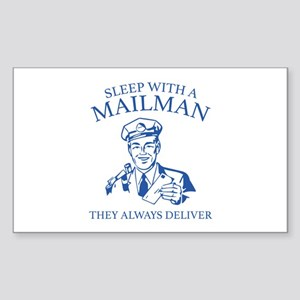 Sleep With A Mailman Sticker (Rectangle)