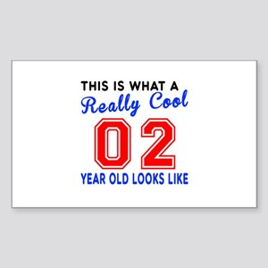 Really Cool 02 Birthday Design Sticker (Rectangle)