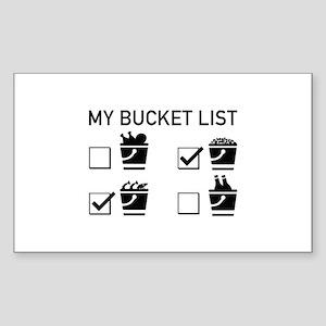 My Bucket List Sticker (Rectangle)