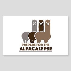 Prepare For The Alpacalypse Sticker (Rectangle)