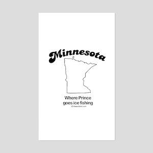 MINNESOTA: Where Prince goes ice fishing Sticker (
