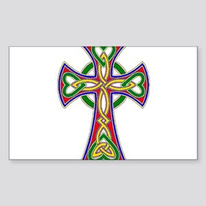 Primary Celtic Cross Sticker (Rectangle)