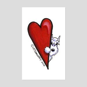 White Schnauzer Lover Sticker (Rectangle)