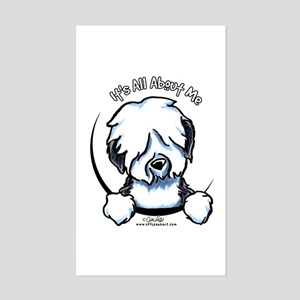 Old English Sheepdog IAAM Sticker (Rectangle)