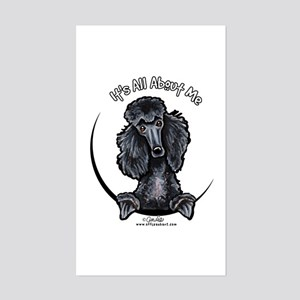 Black Standard Poodle IAAM Sticker (Rectangle)