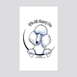 White Standard Poodle IAAM Sticker (Rectangle)