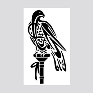 Falcon on Block Rectangle Sticker