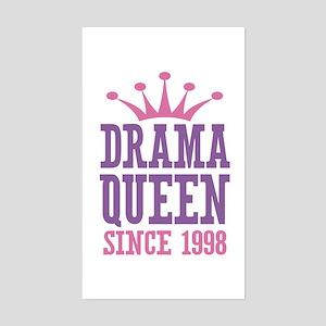 Drama Queen Since 1998 Sticker (Rectangle)