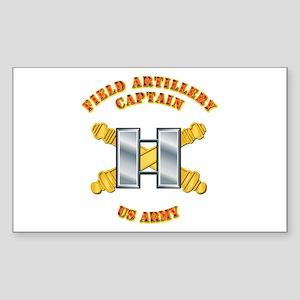 Artillery - Officer - Captain Sticker (Rectangle)