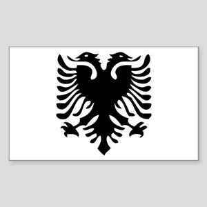 Albanian Eagle Rectangle Sticker