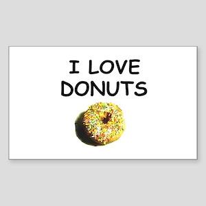 i love donuts Rectangle Sticker