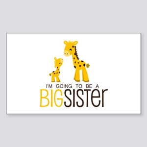I'm going to be a big sister Sticker (Rectangle)