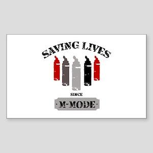 Gel Bottles MMode Red/Blk Sticker (Rectangle)