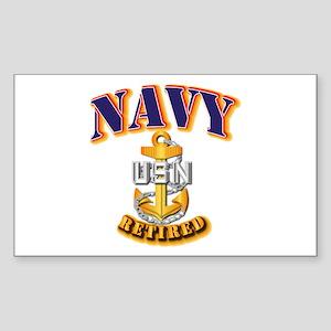 NAVY - CPO - Retired Sticker (Rectangle)