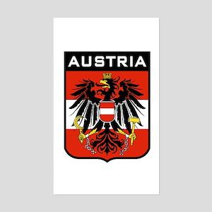 Austria Coat of Arms Rectangle Sticker