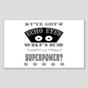Echo Eyes Superpower Gray Sticker (Rectangle)