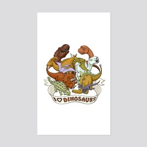 I Heart Dinosaurs Sticker (Rectangle)