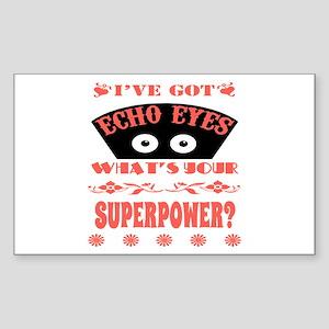 Echo Eyes Superpower Coral Sticker (Rectangle)