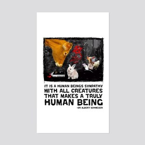 Animal Liberation -Schweizer Sticker (Rectangular