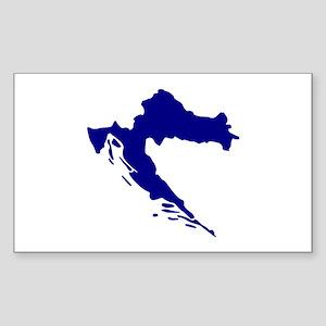 Croatia map Sticker (Rectangle)