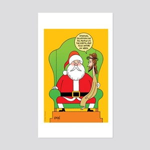 Santa & Jesus Sticker (Rectangle)