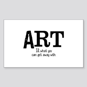 ART is... Sticker (Rectangle)
