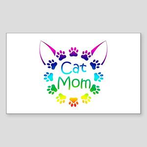 """Cat Mom"" Sticker (Rectangle)"