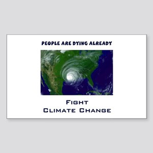 Fight Climate Change Hurricane Sticker