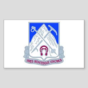 DUI - 2nd Bn - 87th Infantry Regt Sticker (Rectang