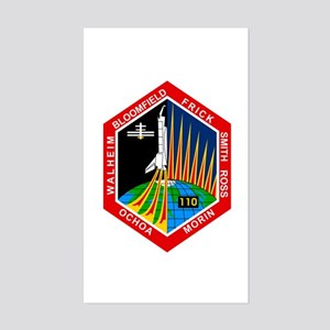 STS-110 Atlantis Sticker (Rectangle)