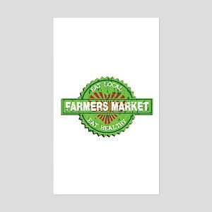 Farmers Market Heart Sticker (Rectangle)