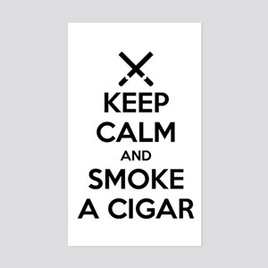 Keep Calm And Smoke A Cigar Sticker
