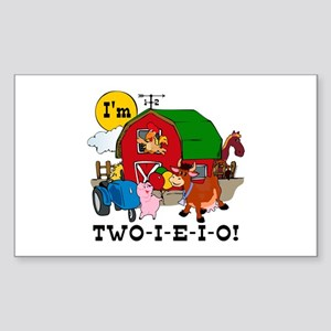 TWO-I-E-I-O Sticker (Rectangle)
