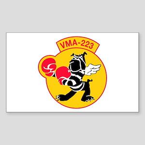 Marine Attack Squadron 223 (VMA-223) with Text Sti