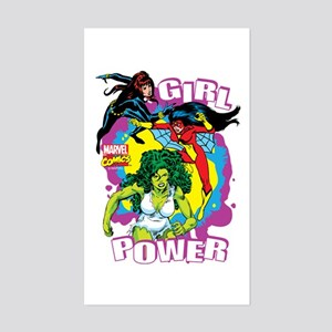 Marvel Comics Girl Power Sticker (Rectangle)