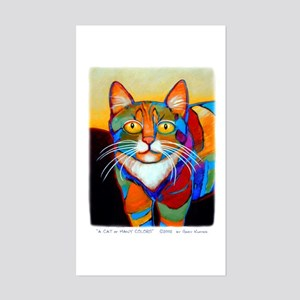 Cat-of-Many-Colors Sticker (Rectangle)