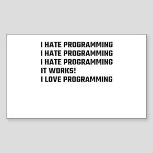 I Love Programming Sticker