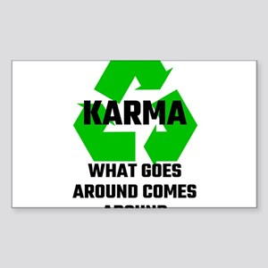 Karma What Goes Around Comes Around Sticker