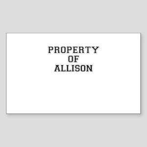 Property of ALLISON Sticker