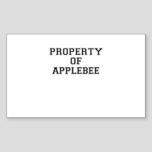 Property of APPLEBEE Sticker