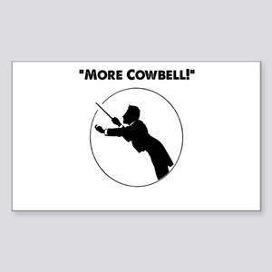"Mahler ""More Cowbell!"" Sticker (Rectangle)"