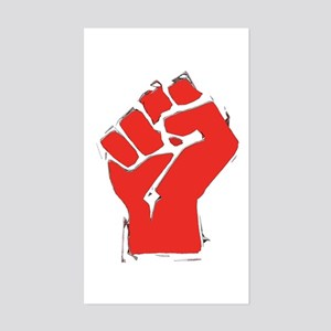 Raised Fist Sticker (Rectangle)