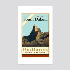Travel South Dakota Rectangle Sticker