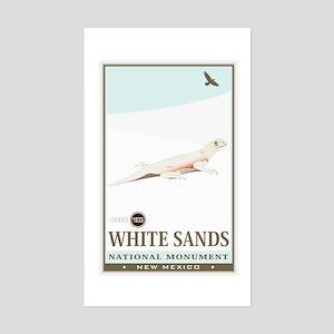 National Parks - White Sands 2 Sticker (Rectangle)
