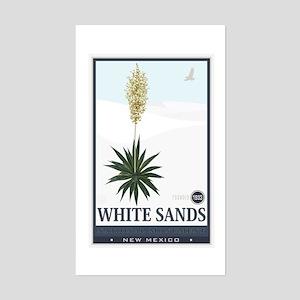 National Parks - White Sands 2 1 Sticker (Rectangl