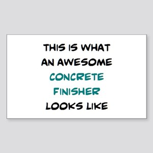 awesome concrete finisher Sticker (Rectangle)