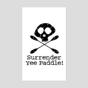 Kayaking Pirate Rectangle Sticker